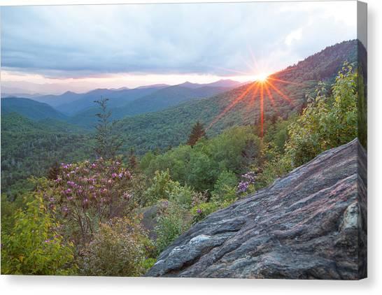 Blue Ridge Sunset Canvas Print