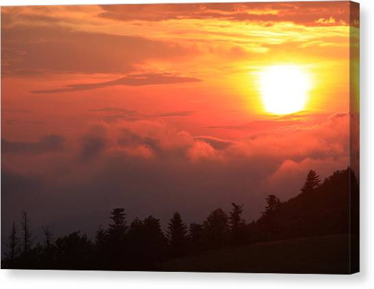 Blue Ridge Sunrise Great Balsam Mountains Canvas Print