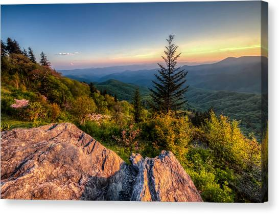 Blue Ridge Sunset Canvas Print by Doug McPherson