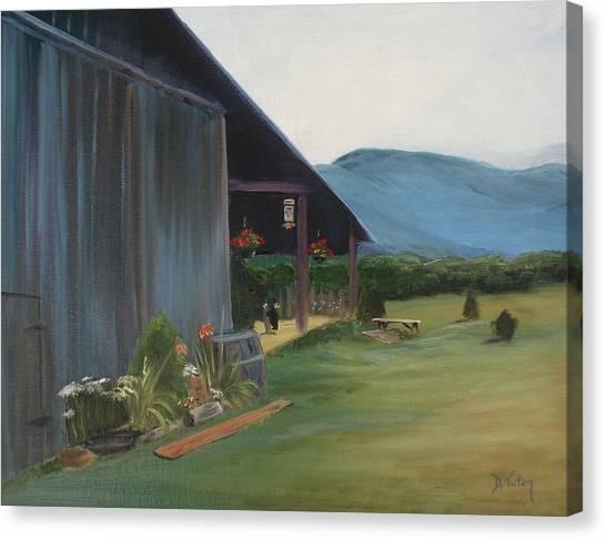 Blue Ridge Vineyard Canvas Print