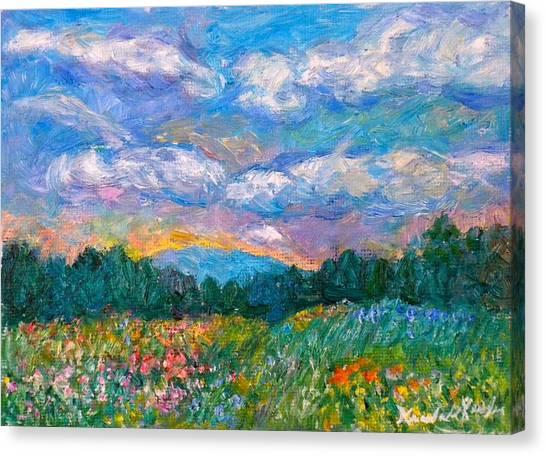 Blue Ridge Wildflowers Canvas Print