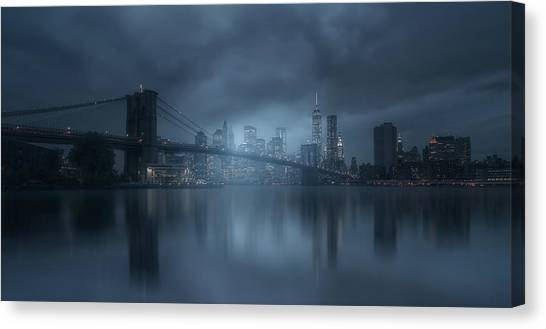 Broadway Canvas Print - Blue River by David Mart?n Cast?n