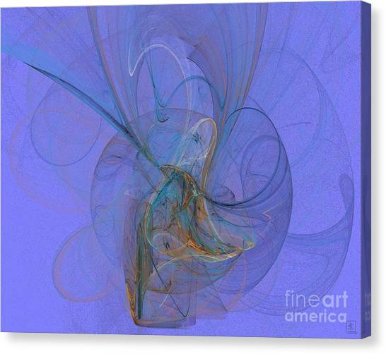 Blue Shell 1 Canvas Print