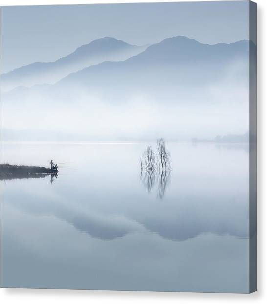 Layers Canvas Print - Blue Silence by Jose Beut
