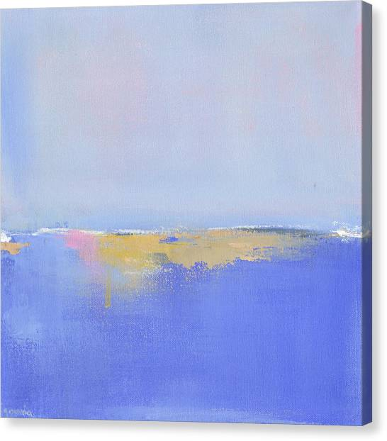Abstract Seascape Canvas Print - Blue Silences by Jacquie Gouveia