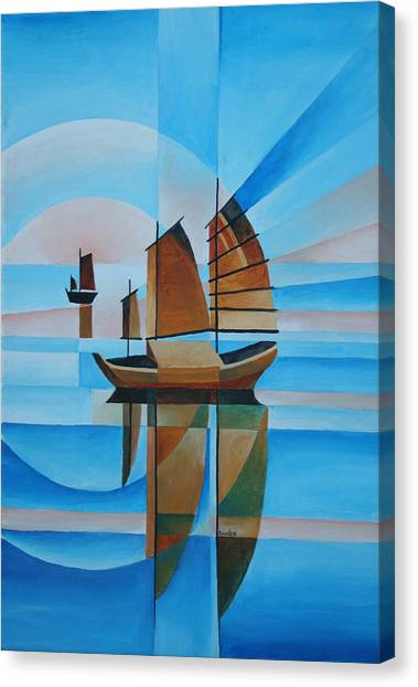 Blue Skies And Cerulean Seas Canvas Print