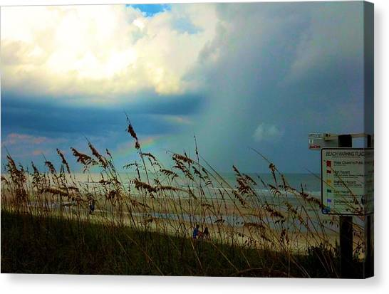 Blue Sky Above Canvas Print