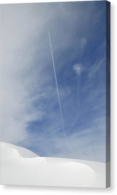 Blue Sky And Snow Canvas Print