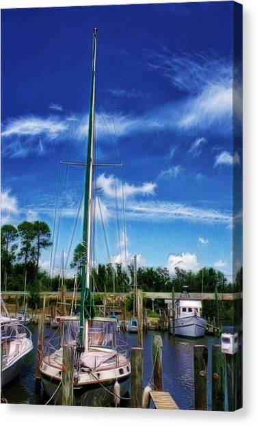 Blue Sky Canvas Print by Barry Jones