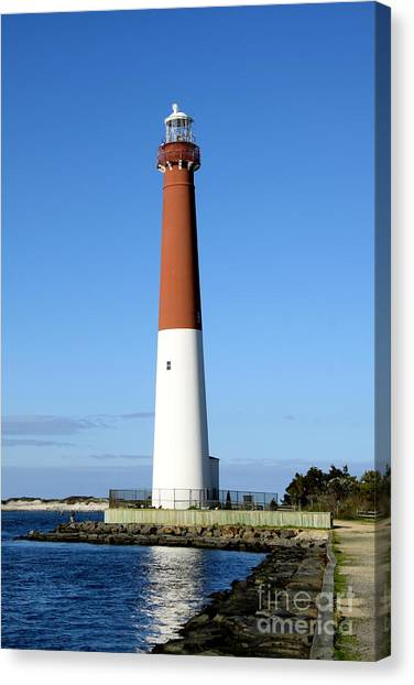 Canvas Print - Blue Sky Blue Sea  And Barnegat Light by Christiane Schulze Art And Photography