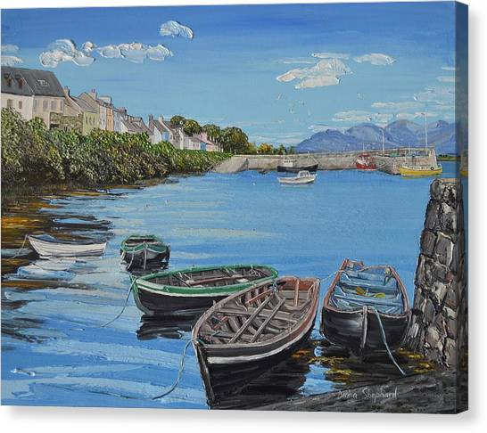 Blue Sky Day Roundstone Connemara Canvas Print