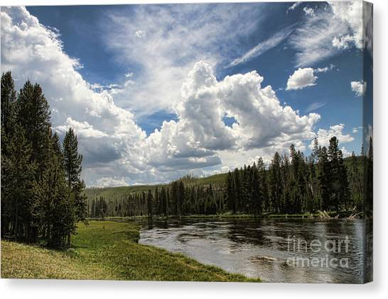 Blue Sky In Yellowstone Canvas Print