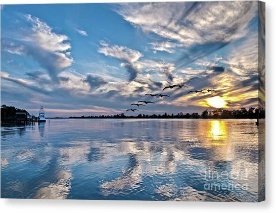 Blue Sky Sunset Canvas Print