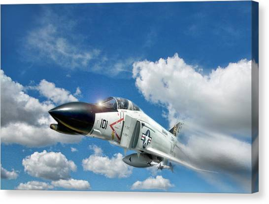 Sidewinders Canvas Print - Blue Sky Thunder by Peter Chilelli