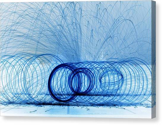 Fire Ball Canvas Print - Blue Slinky   # by Rob Luzier