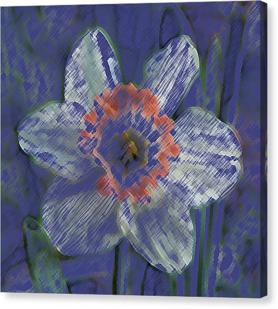Blue Spring Flower Canvas Print