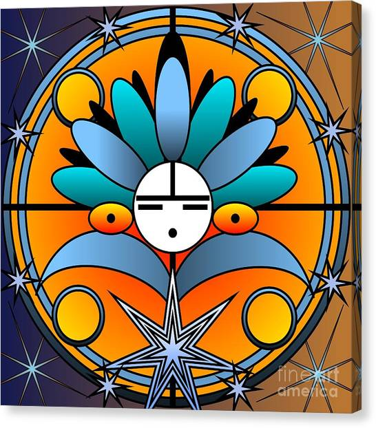 Blue Star Kachina 2012 Canvas Print