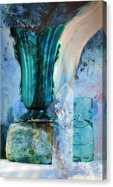 Blue Still Life Flow Canvas Print