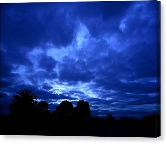 Blue Storm Rising Canvas Print