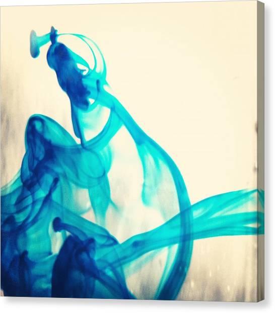 Abstract Canvas Print - Blue Swirl by Christy Beckwith