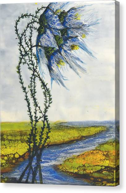 Blue Tangle Canvas Print