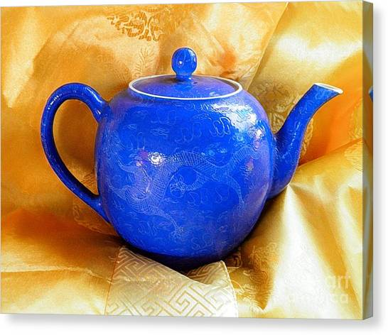 Blue Teapot Canvas Print