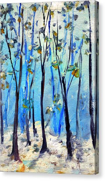 Blue Thoughts In Winter Canvas Print