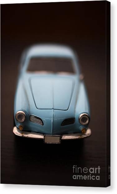 Karma Canvas Print - Blue Toy Car by Edward Fielding