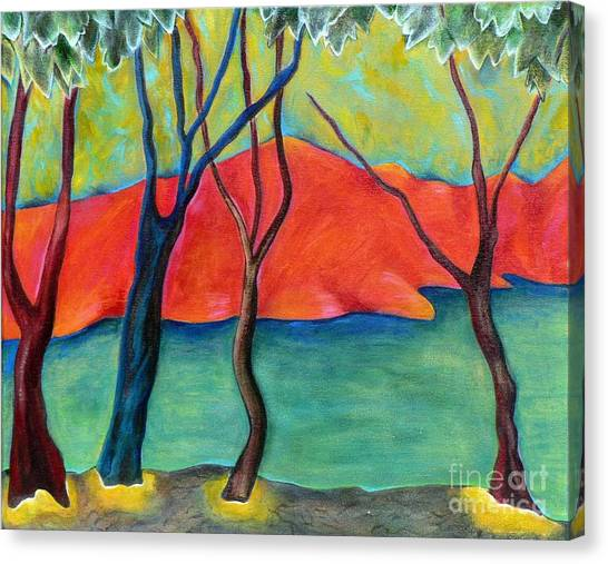 Blue Tree 2 Canvas Print