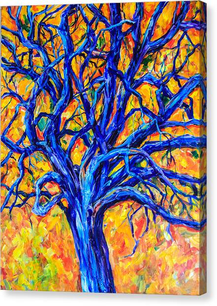Blue Tree Canvas Print