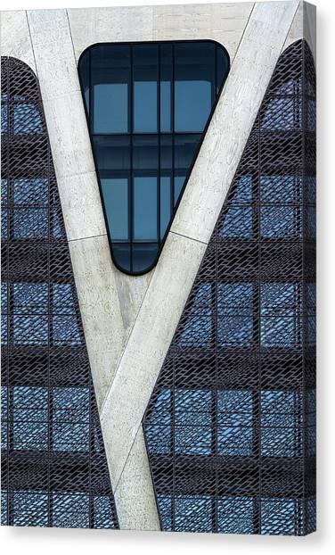 Belgium Canvas Print - Blue Triangle by Jef Van Den