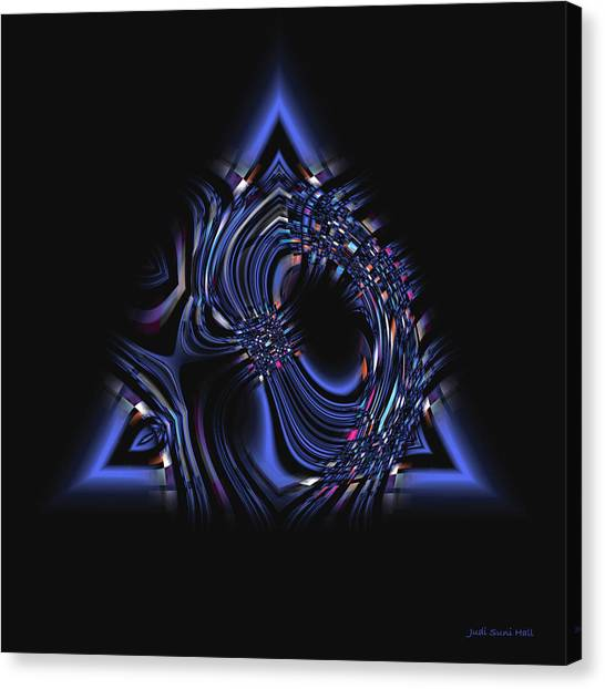 Blue Triangle Jewel Abstract Canvas Print