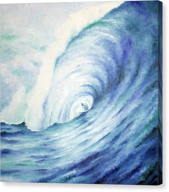 Blue Tube Canvas Print