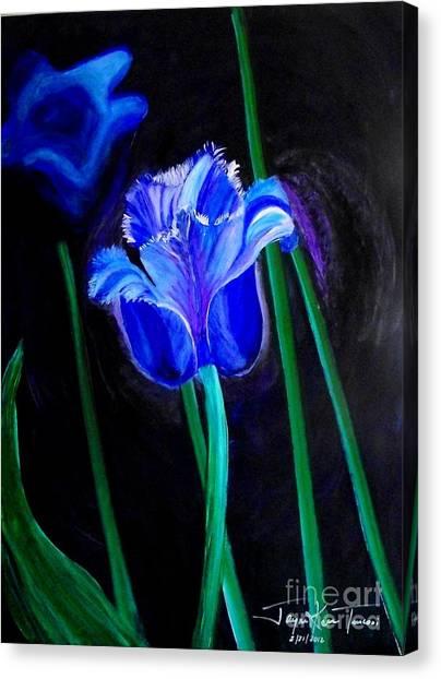 Blue Tulip Variation Canvas Print