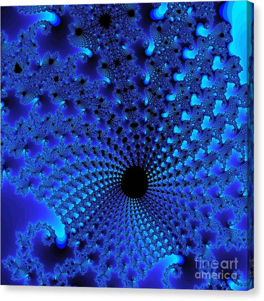 Blue Tunnel Canvas Print by Gaby Tench