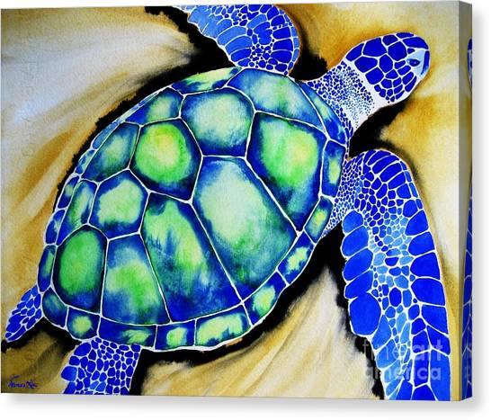 Blue Turtle Canvas Print