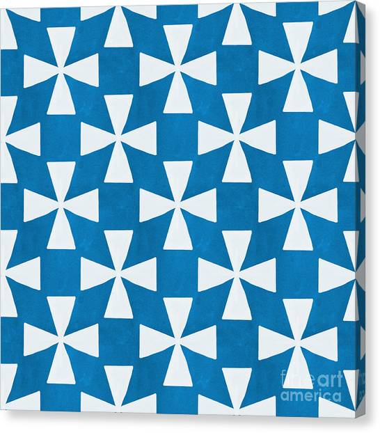 Shapes Canvas Print - Blue Twirl by Linda Woods
