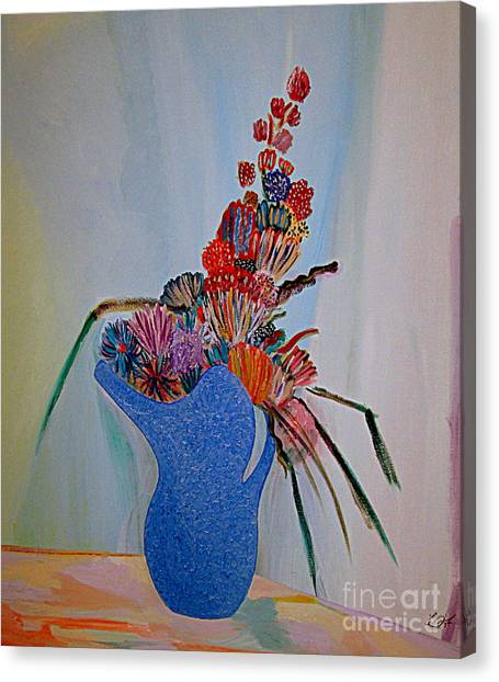 Blue Vase 22 Canvas Print