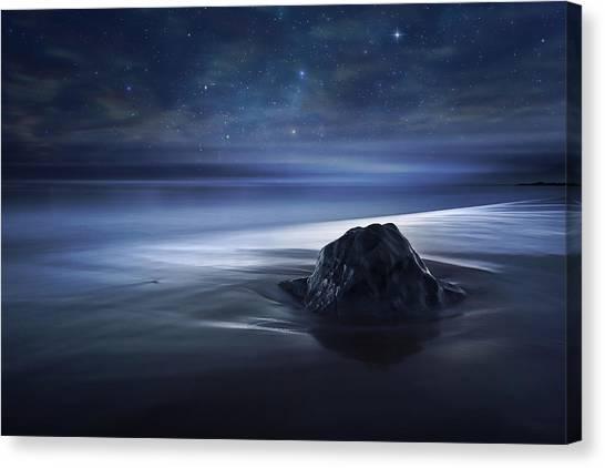 Boulder Canvas Print - Blue Velvet by Sebastien Del Grosso