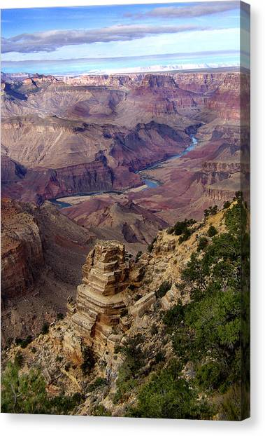 Blue Water In The Grand Canyon Canvas Print