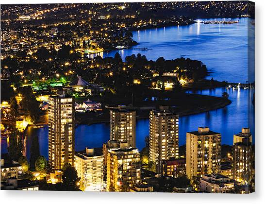 Blue Water Kitsilano Mcdix Canvas Print