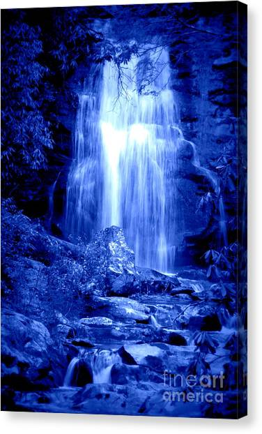 Blue Waterfall Canvas Print