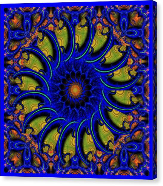 Blue Whirligig Canvas Print