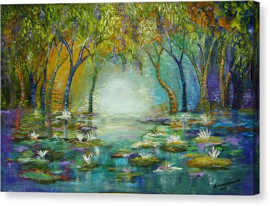 Blue Woods Canvas Print