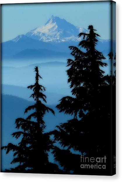 Blue Yonder Mountain Canvas Print