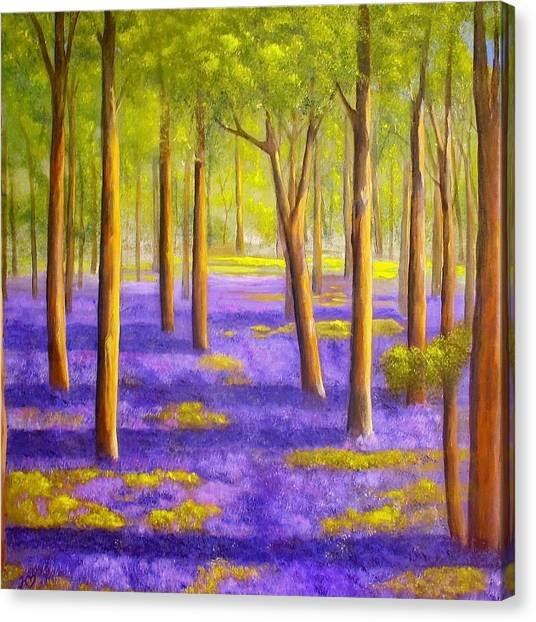 Bluebell Wood Canvas Print by Heather Matthews