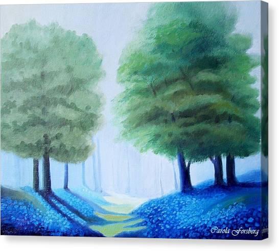 Bluebells Canvas Print by Carola Ann-Margret Forsberg
