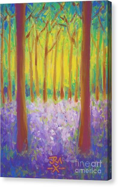 Bluebells Canvas Print by Jedidiah Morley