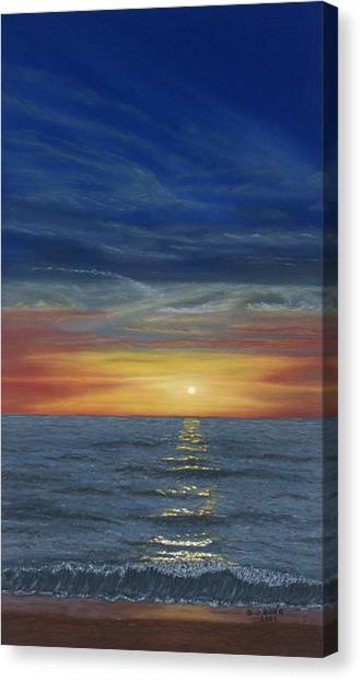 Blueberry Beach Sunset Canvas Print