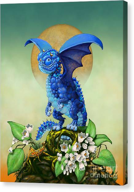Blueberries Canvas Print - Blueberry Dragon by Stanley Morrison